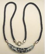 PORCELAIN & CORD NECKLACE - $5.00