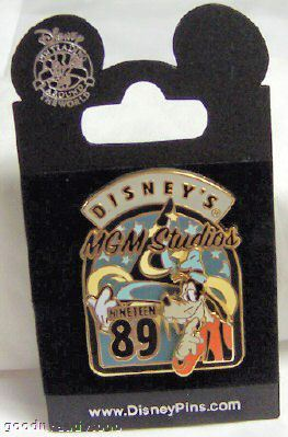 Disney WDW GOOFY MGM STUDIOS RETRO 3D PIN NEW