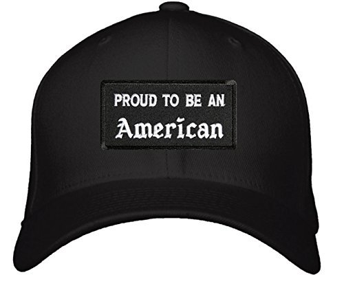 Proud To Be An American Hat - Adjustable Mens Black/White - USA Patriotic