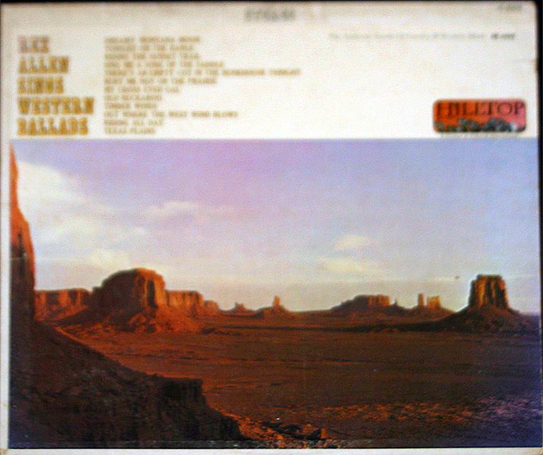 Rex allen sings western ballads cover