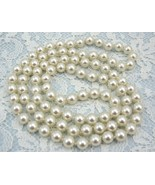 White Majorca highly similar culture Pearl 8mm knotted Necklace,bracesla... - $16.50