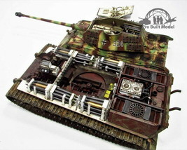SD.KFZ 182 King Tiger Porsche Turret Full Interior 1:35 Pro Built Model - $376.20