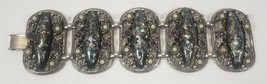 UNSIGNED SELRO LARGE CHUNKY VINTAGE CONFETTI LUCITE+PEARLS+AMETHYST BRAC... - $129.99