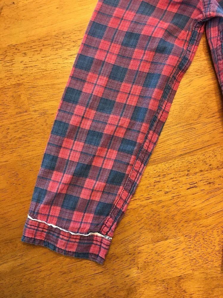 Abercrombie Kids Girl's Blue & Pink Plaid V-Neck Dress Shirt - Medium image 5