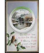 Antique, Davidson Bros, Early Divided-back, Embossed, Christmas Postcard... - $7.00
