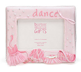 Little Girls Pink Dance Picture Frame