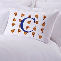 Personalized Direct Personalized Kids Initial Pizza Pillow Case - $8.99