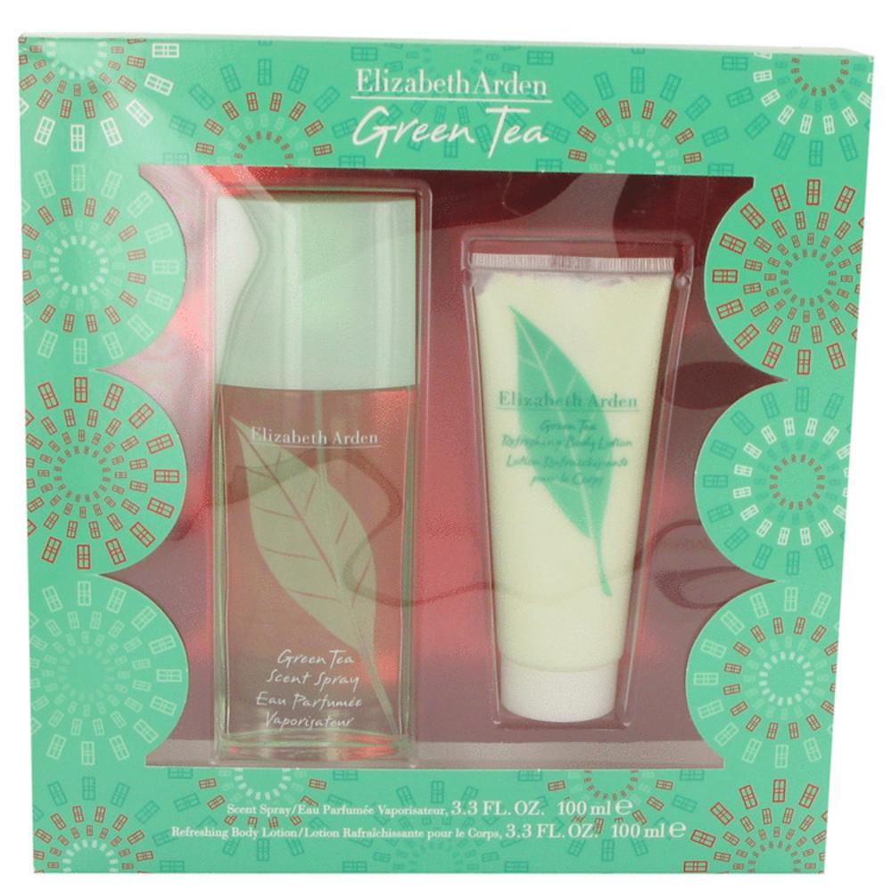 Green Tea By Elizabeth Arden Gift Set -- 3.3 Oz Scent Spray + 3.3 Body Lotion Fo - $35.31