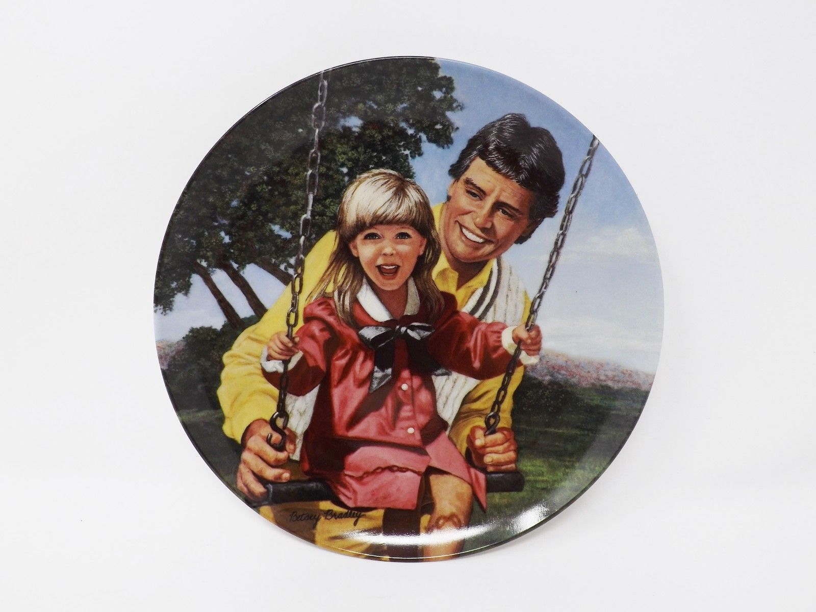 "Primary image for Knowles ""Swing Time"" Collectible Plate - A Father's Love Series"