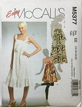 McCall's M5377, Misses' Jumper and Dresses in Two Lengths, Size EE (14-16-18-20) - $13.23