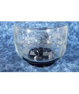 Shreve Crump Low Etched Boston Swan Boat Pairpoint Glass, Amy & Ruth Wed... - $45.82