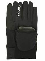 Saucony Ulti-Mitt Sz M Medium Convertible Pocket Thermal Running Gloves SA90476