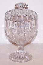 "GORGEOUS MIKASA CRYSTAL PARK LANE 7 1/4"" FOOTED CANDY DISH  WITH LID - $54.69"