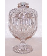 """GORGEOUS MIKASA CRYSTAL PARK LANE 7 1/4"""" FOOTED CANDY DISH  WITH LID - $54.69"""