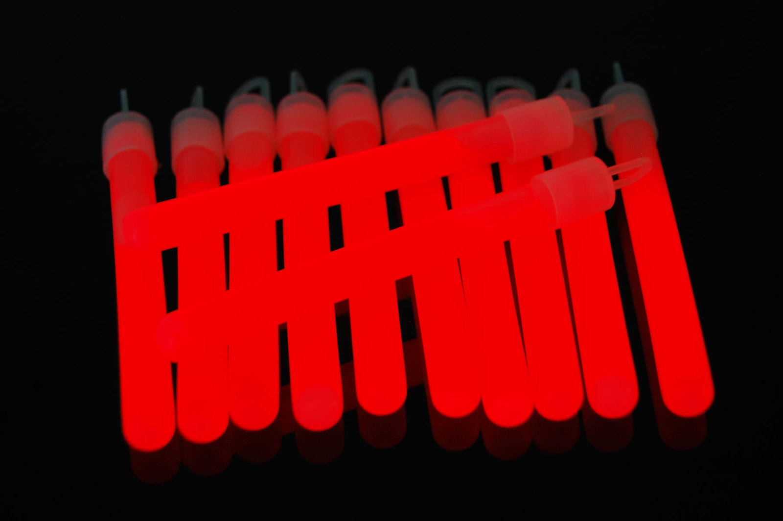 4 inch Premium Red Glow Sticks with Lanyards- 25 Count