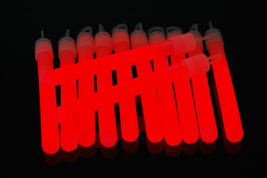 4 inch Premium Red Glow Sticks with Lanyards- 25 Count  image 1