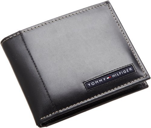 Tommy Hilfiger Men's Leather Cambridge Passcase Wallet With Removable Card Case,