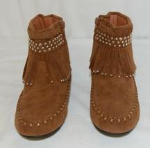 I Love Yo Kids AVA 78K Girls Fringe Boot Rust Silver Studded Size 3 image 2