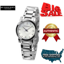 100% NEW Burberry Mother of Pearl diamond Stainless Steel Ladies Watch B... - $332.82