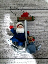 Vintage Hallmark Keepsake 1991 Santa Sailor Christmas Ornament Ed Seale  - $9.89