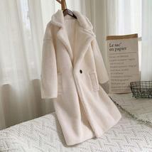 Luxury Fashion Leopard Long Thick  Faux Fur Teddy Bear Coat image 10