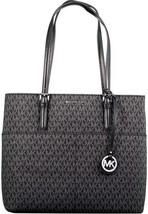 Michael Kors Women's Large Bedford Pocket Leather Shoulder Bag Tote (Black) - $127.71