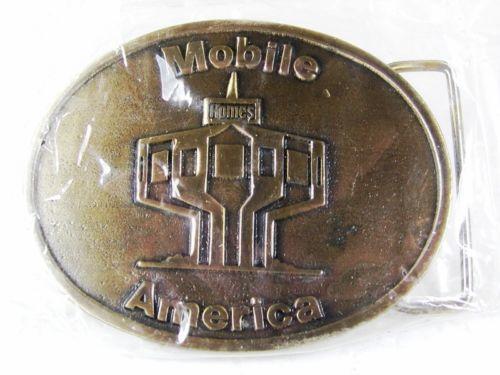 Massives Messing Mobile Amerika Gürtel Schnalle von Siskiyou 22816 Neuwertig In