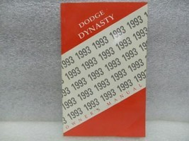 DODGE DYNASTY   1993 Owners Manual 16658 - $13.81