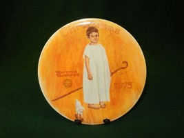 Rockwell 1975 Collector Plate ANGEL with a BLACK EYE Certificate Box PLT-08 - $12.69