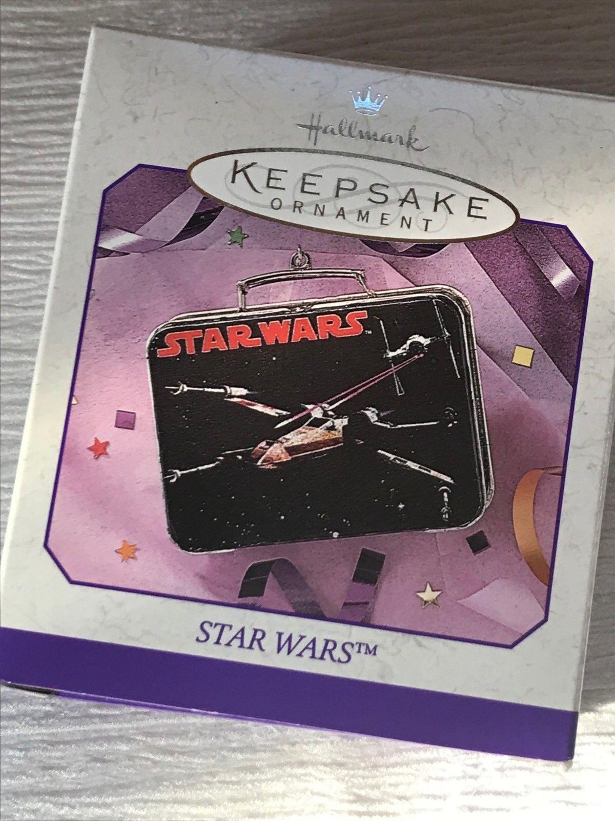 Hallmark Star Wars Black Mini Lunch Box Replica 1998 Christmas Tree Ornament in