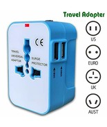 Travel Adapter USB Wall Charger AC Power Plug Adapter for Cell Phone Lap... - $15.27