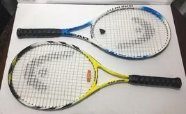 Head Ti Tornado Titanium Tech 4 3/8-3 Tennis Racket Blue White + Tour Pro Yellow - $61.72