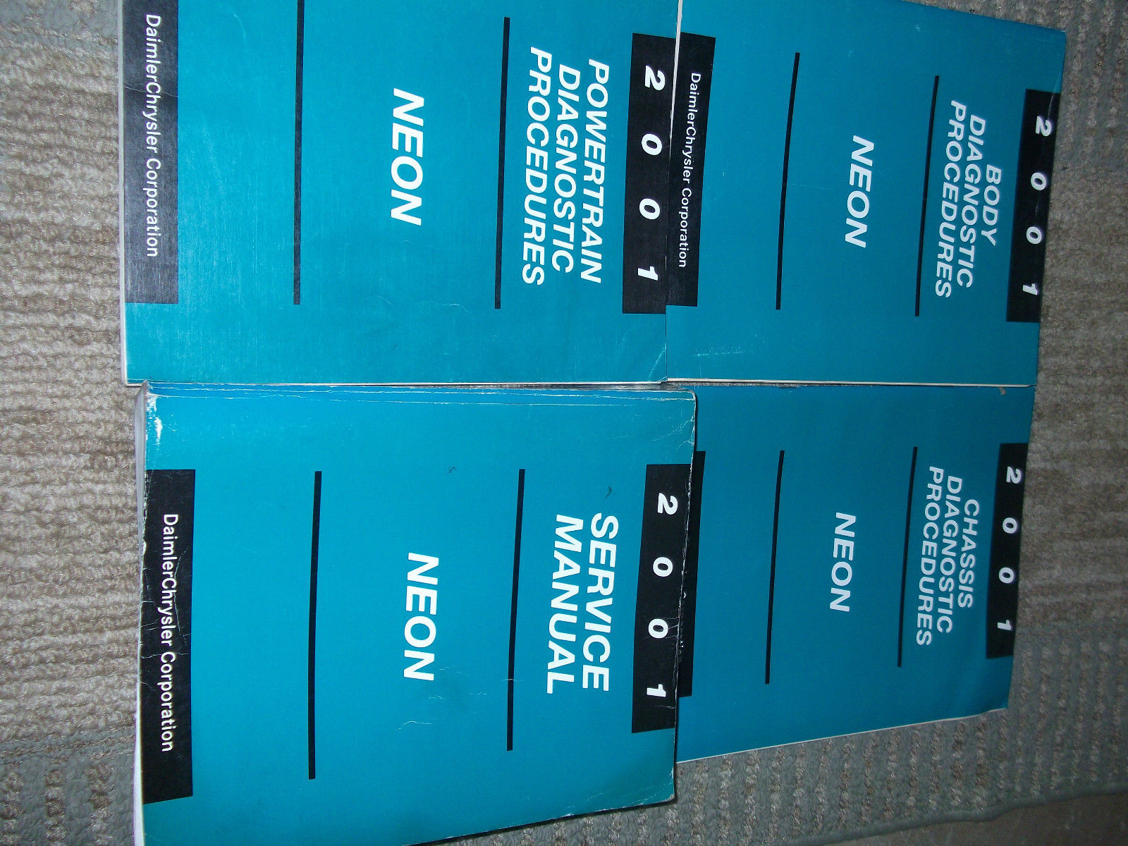2001 Dodge Neon Shop Service Workshop Repair Manual Set W Diagnostics OEM
