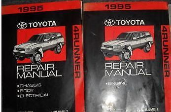 1995 Toyota 4Runner 4 RUNNER Service Shop Workshop Repair Manual Set NEW