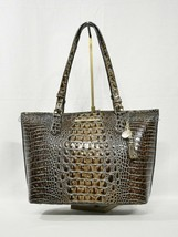 NWT Brahmin Medium Asher Embossed Leather Tote/Shoulder Bag in Chicory Melbourne image 2
