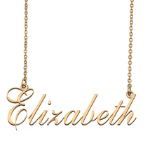 Elizabeth Custom Name Necklace Personalized for Mother's Day Christmas Gift - $15.99+