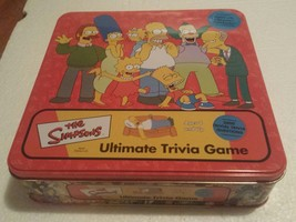 The Simpsons Ultimate Trivia game in tin- Complete 1 deck cards sealed - $9.75