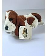 "Hush Puppies Brown Cream Puppy Dog Mini Bean Bag Plush stuffed animal 5""... - $19.34"