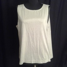 f2a718575b0dc0 Chico's 3 tank top large grey metallic silver shimmer - $20.00
