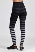 K-Deer Women's Black/Grey Jody Stripe Full Length Leggings, XS-4X image 5