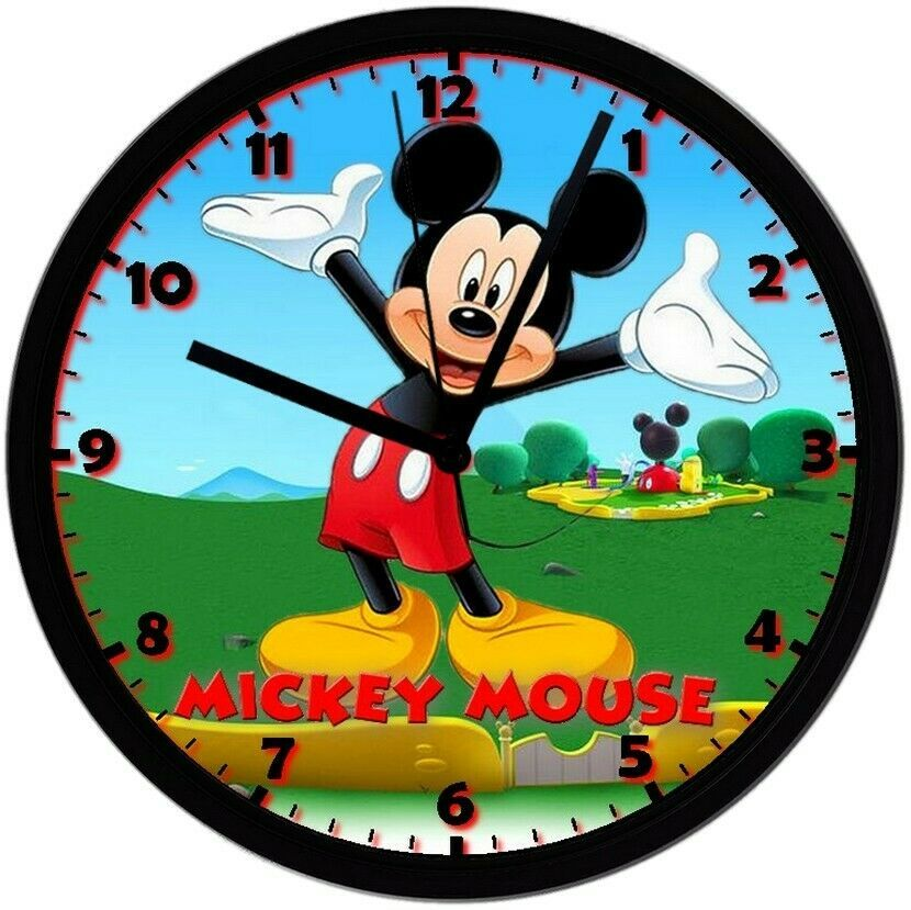 Primary image for Mickey Mouse! Exclusive 8in. Unique Homemade Wall Clock, Battery Included