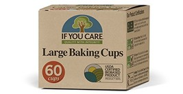 If you care Unbleached Large Baking Cups, 60-Count Boxes, Brown 24 Pack
