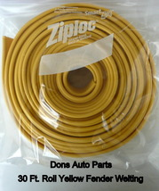 Yellow Brown Universal Solid Bead Rubber Fender Welting 30 Feet - $55.00