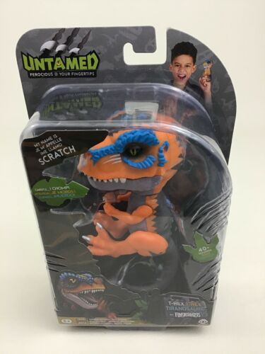 Untamed Fingerlings Orange Scratch Baby Dinosaur T-Rex Sealed Wowwee Dino