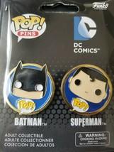 Funko Pop Pins Batman Superman DC Comics *New* 2 pack - $7.91