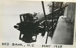 RPPC Postcard NJ F395 Car Crash Wreck Red Bank May 1928 Model T Water Ko... - $34.00