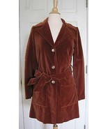 Thea Porter Couture Made in England Vintage 60s 70s Velvet Trench Jacket... - $988.02