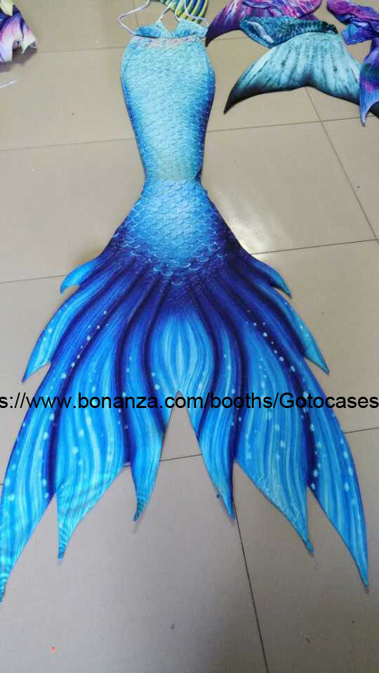 Miami Beach Mermaid Tails Blue For Swimming S Women With Monofin