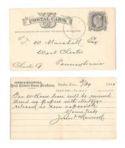 UX5 1876 Philadelphia PA Fancy Cork Cancel Wedges Lippincott Co Water Apparatus - $4.99