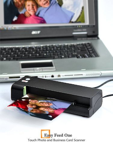 New Easy Feed One-Touch Photo and Business Card Scanner